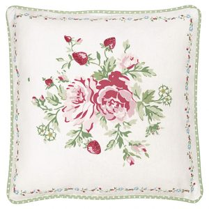 GreenGate Cushion Cover – Pudebetræk – Mary white pieceprinted 40 x 40 cm.