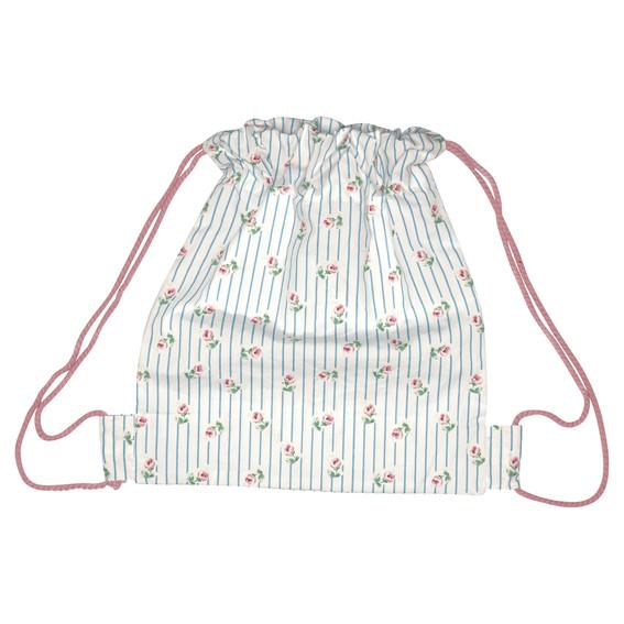 GreenGate Kids Bag - Snøretaske - Lily Petit White