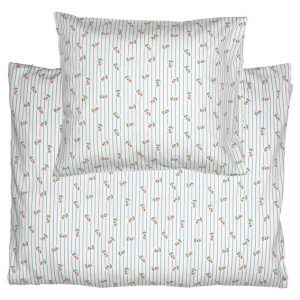 GreenGate Kids Bed Linen Set - Junior Sengesæt - Lily Petit White 100 x 140 cm.