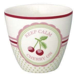 GreenGate Latte Cup – Cherry Mega White