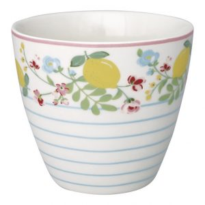 GreenGate Latte Cup – Limona White