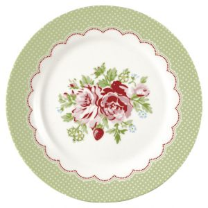 GreenGate Lunch Plate – Frokosttallerken – Mary White