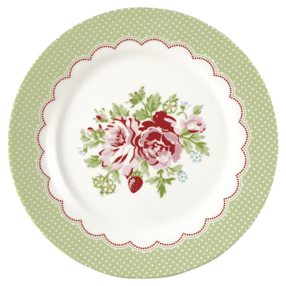 GreenGate Lunch Plate – Frokosttallerken – Mary White