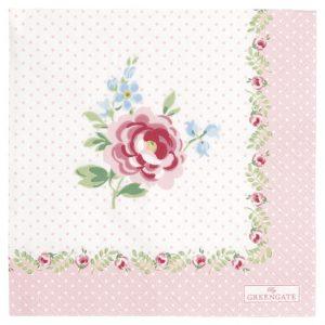 GreenGate Napkin - Servietter - Lily Petit White Small