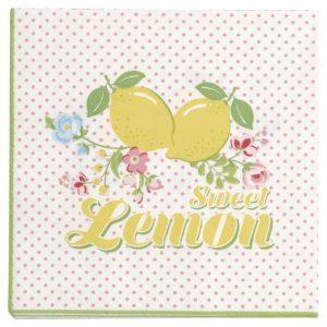 GreenGate Napkin Small – Kaffeservietter – Limona White