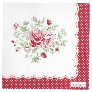 GreenGate Paper Napkins – Servietter – Mary White Large