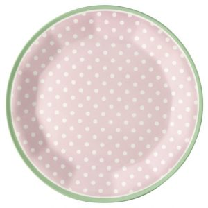 GreenGate Plate – Melamin Frokosttallerken - Spot Pale Pink