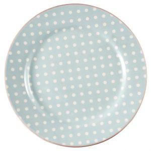 GreenGate Plate - Frokosttallerken - Spot Pale blue