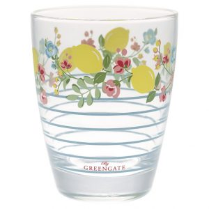 GreenGate Water Glass – Vandglas - Limona Pale Blue