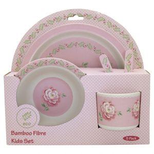 Greengate Kids Dinner Set - Spisestel i 4 dele - Lily Petit WhiteGreengate Kids Dinner Set - Spisestel i 4 dele - Lily Petit White