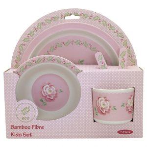 Greengate Kids Dinner Set - Spisestel i 4 dele - Lily Petit WhiteGreengate Kids Dinner Set - Spisestel i 4 dele - Lily Petit White