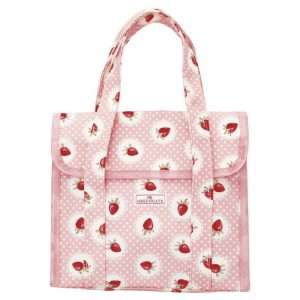 Greengate Lunch bag Strawberry Pale Pink