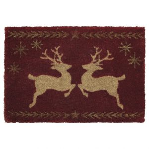 GreenGate Doormat - Dørmåtte - Deer Red