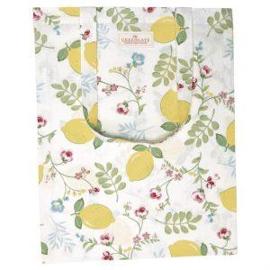 GreenGate Bag Cotton – Bomulds Indkøbsnet – Limona White