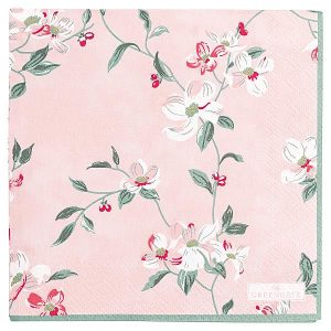 GreenGate Napkin - Servietter - Jolie pale pink small