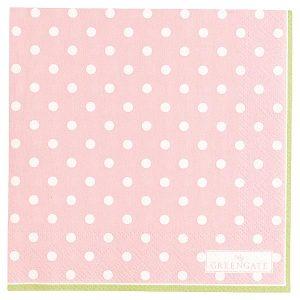 GreenGate Napkin - Servietter - Spot pale pink small