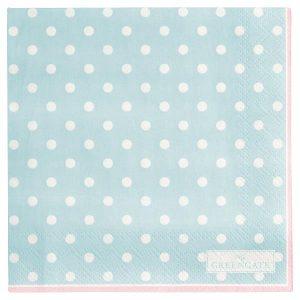 GreenGate Napkin - Servietter - Spot pale blue small