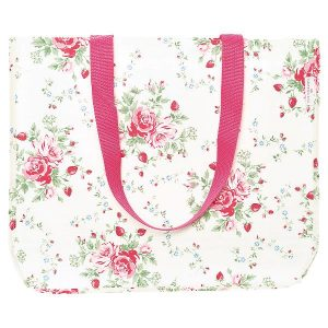 GreenGate Shopper bag Mary white round bottom