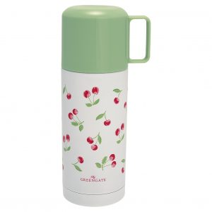 GreenGate Bottle - Termokande - Cherry white 350ml