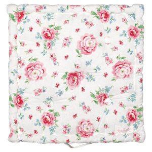 GreenGate Box cushion - Hynde - Meryl mega white