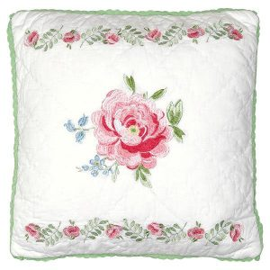 GreenGate Cushion - Pude - Meryl Mega White 40 x 40 cm.
