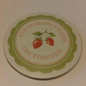 Greengate Coaster – Glasbakke – Strawberry Pale Green