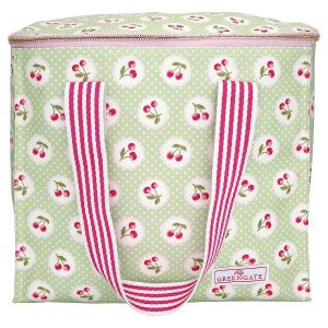 GreenGate Cooler bag two handles - Køletaske - Cherry