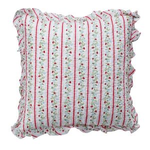 GreenGate Cushion - Pudebetræk - Gloria white w/frill 50x50cm
