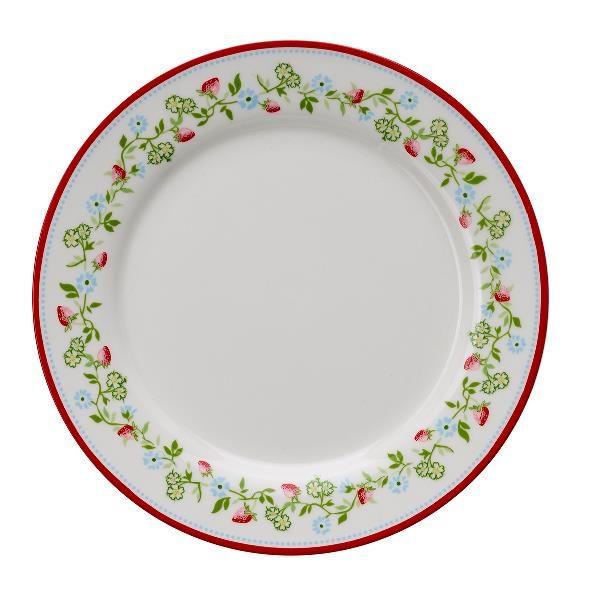 GreenGate Plate - Frokosttallerken - Gloria white