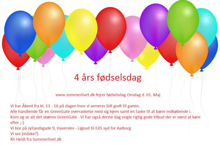 4 års fødselsdag hos Sommerlivet