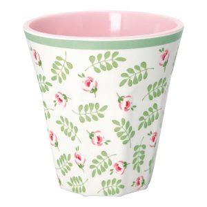 GreenGate Lily Petit White Melamine Mug