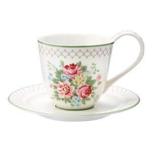 GreenGate Cup & Saucer – Kop m/underkop – Aurelia White