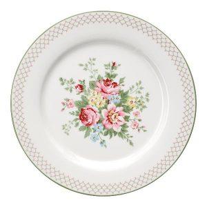 GreenGate Dinner Plate – Middagstallerken – Aurelia White