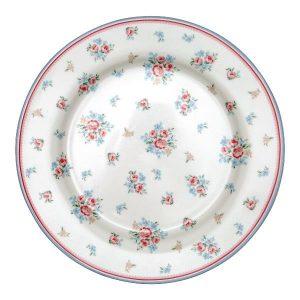 GreenGate Dinner Plate – Middagstallerken – Nicoline White