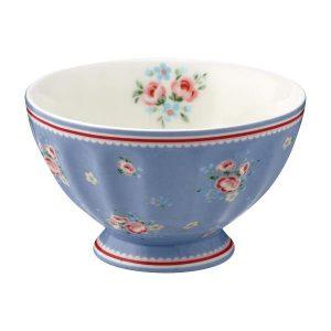 GreenGate French Bowl Medium – Skål – Nicoline Dusty Blue