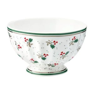 GreenGate French bowl medium - Skål - Joselyn white