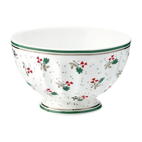 GreenGate French bowl medium - Skål - Joselyn white