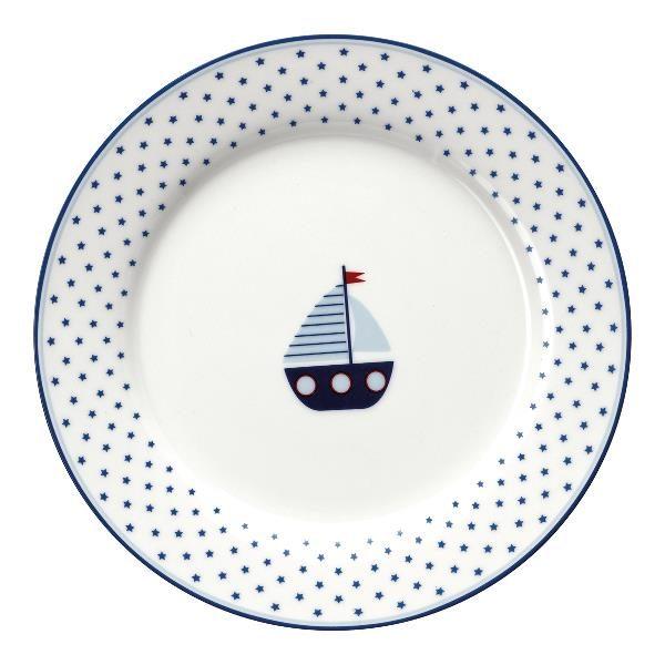 GreenGate Kids Plate – Tallerken – Noah Blue