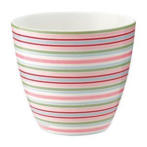 GreenGate Latte Cup – Silvia Stripe White
