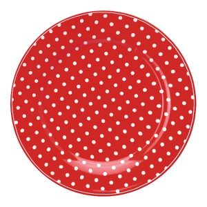 GreenGate Lunch Plate – Frokosttallerken – Spot Red