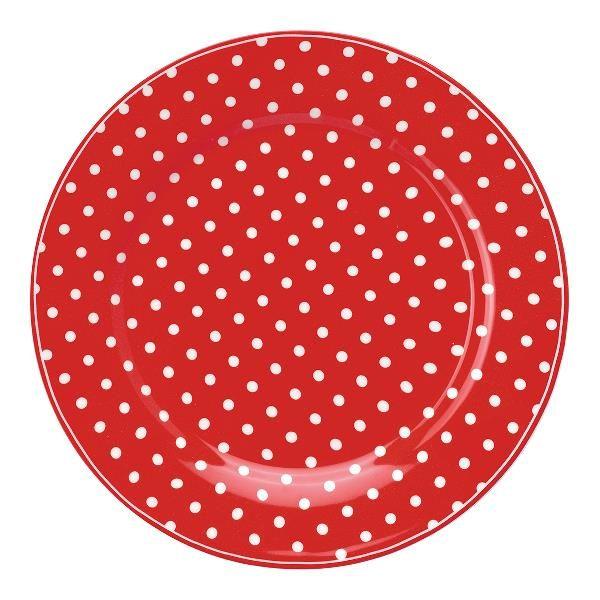 GreenGate Lunch Plate – Frokosttallerken – Spot Red