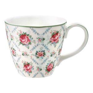 GreenGate Mug – Krus – Malene Petit white