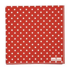 GreenGate Napkin - Servietter - Spot red large 20pcs