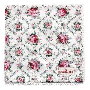 GreenGate Napkin With Lace – Brødkurvsserviet – Malene Petit White