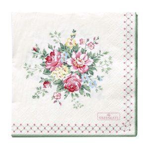 GreenGate Paper Napkins – Servietter – Aurelia White Large