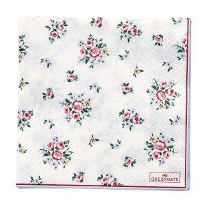 GreenGate Paper Napkins – Servietter – Nicoline White Large