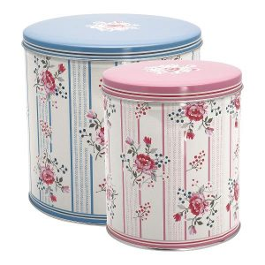 GreenGate Round Box Set – Dåsesæt – Fiona Pale Blue set of 2