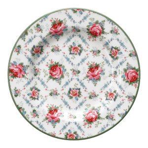 GreenGate Small Plate – Tallerken – Malene Petit White