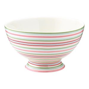 GreenGate Soup Bowl - Suppeskål - Silvia Stripe White