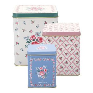 GreenGate Square Box Set – Dåsesæt – Nicoline White